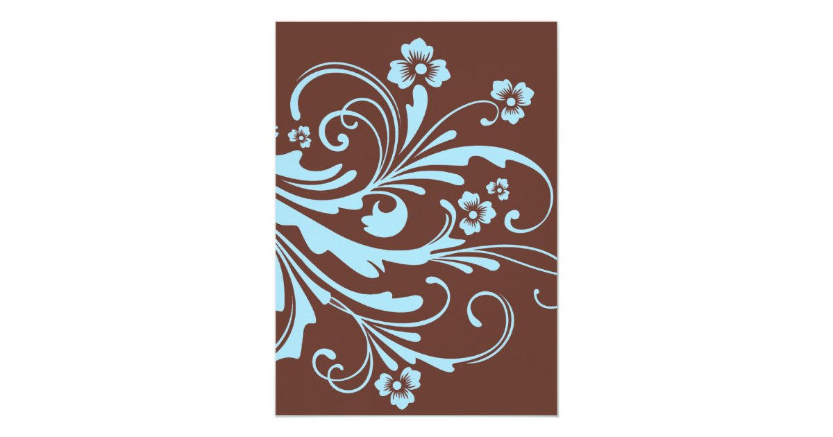Turquoise And Brown Wedding Invitations