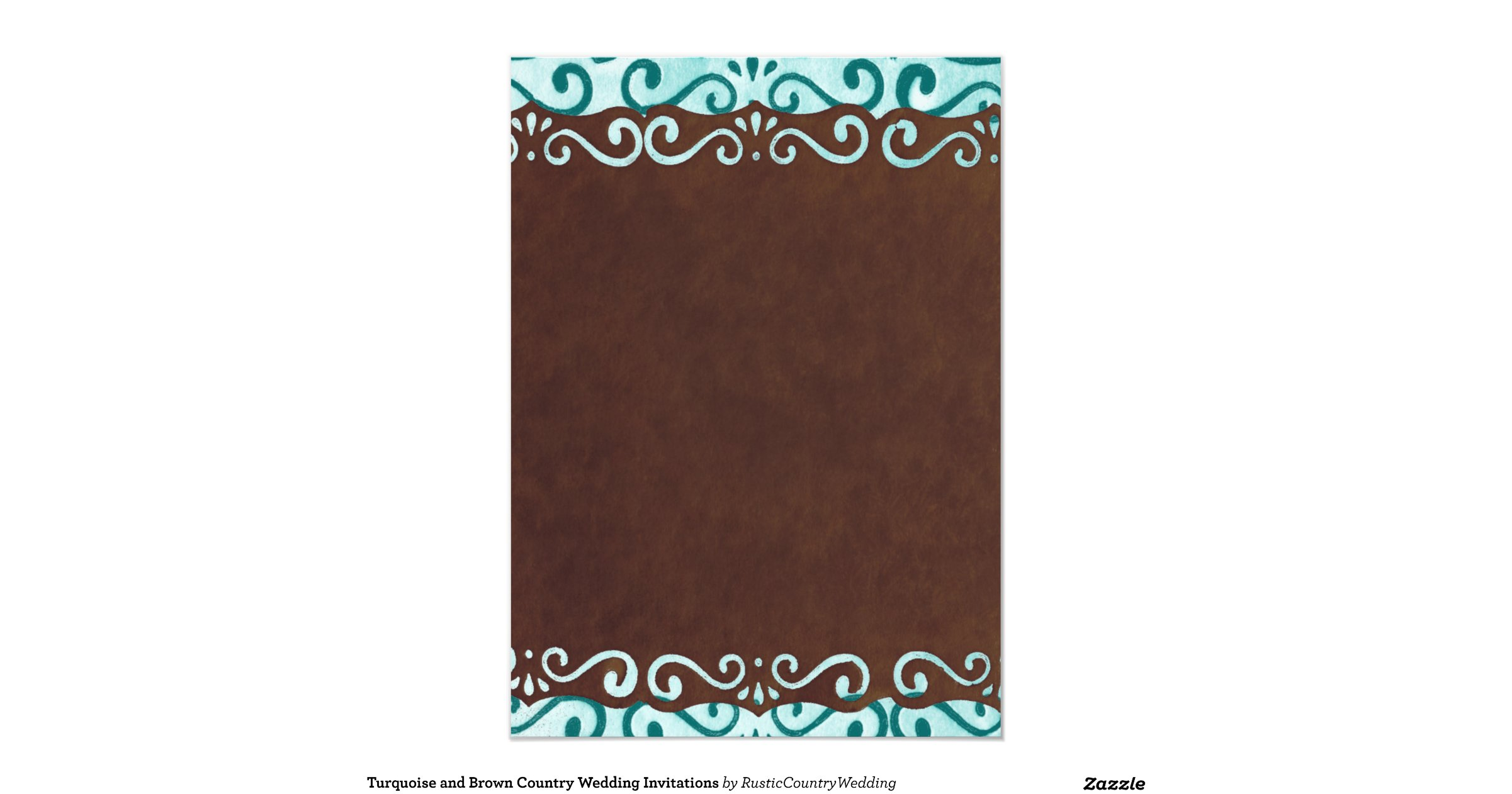 Turquoise And Brown Wedding Invitations: Turquoise_and_brown_country_wedding_invitations