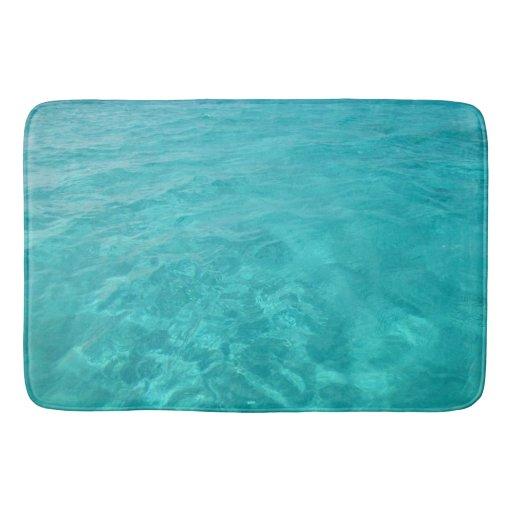 Turquoise Caribbean Sea Bath Mat Zazzle