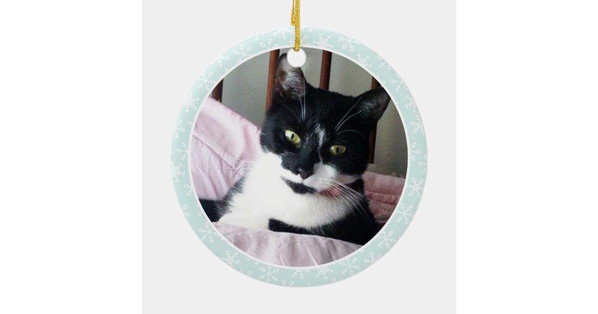 Tuxedo Cat Custom Christmas Ornaments | Zazzle