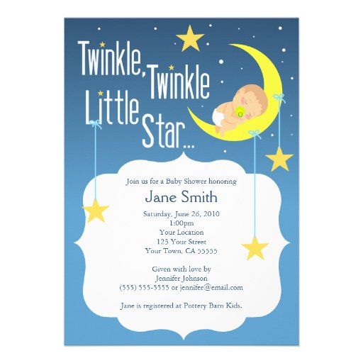 Personalized Twinkle Little Star Invitations