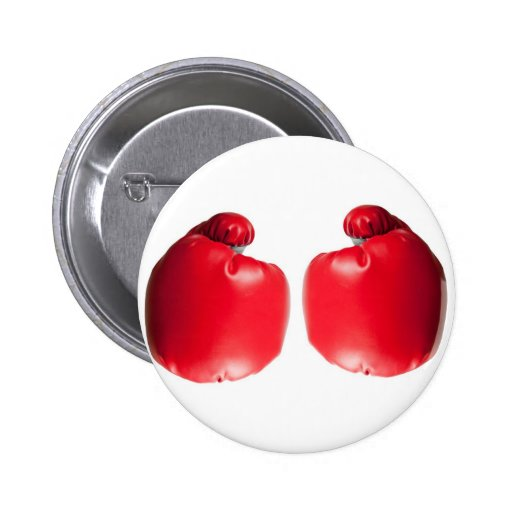 Two Boxing Gloves 2 Inch Round Button