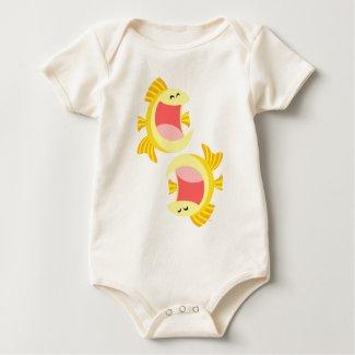 Two Cute Cartoon Fish Baby Apparel shirt