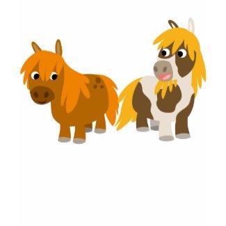 Two Cute Cartoon Ponies Children T-shirt shirt