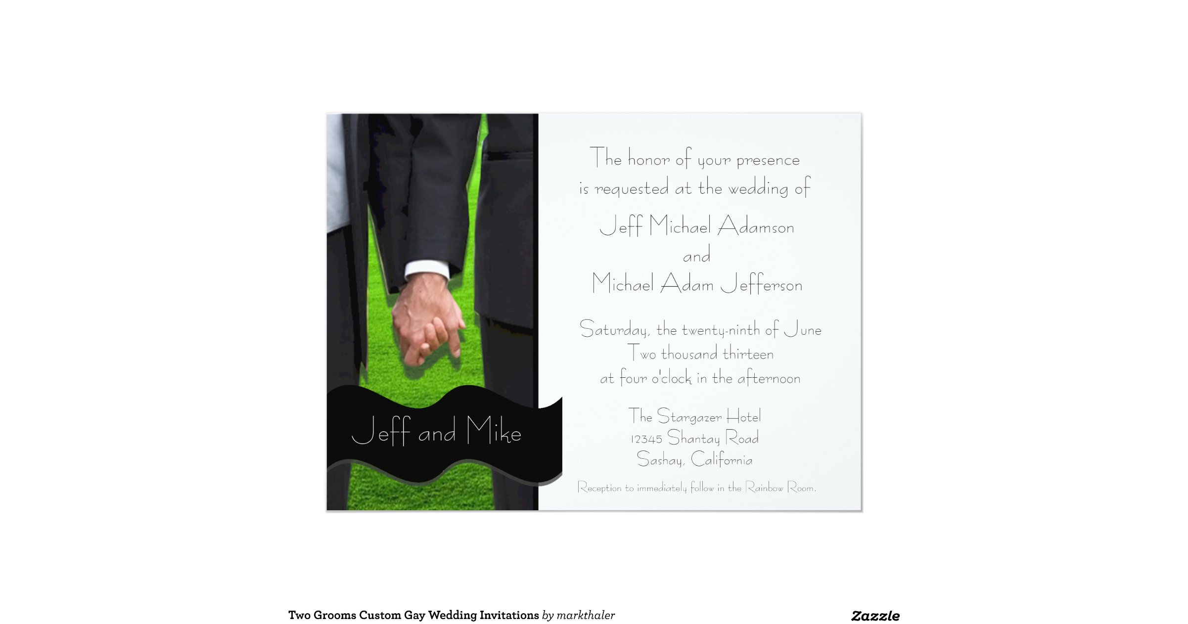 Gay Marriage Wedding Invitations: Two_grooms_custom_gay_wedding_invitations
