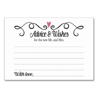 Wedding advice cards zazzle for Bridal shower advice cards template
