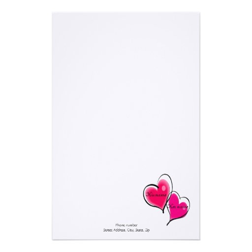 27 Personalized Stationery Templates: Two Hearts Letterhead Template Custom Stationery
