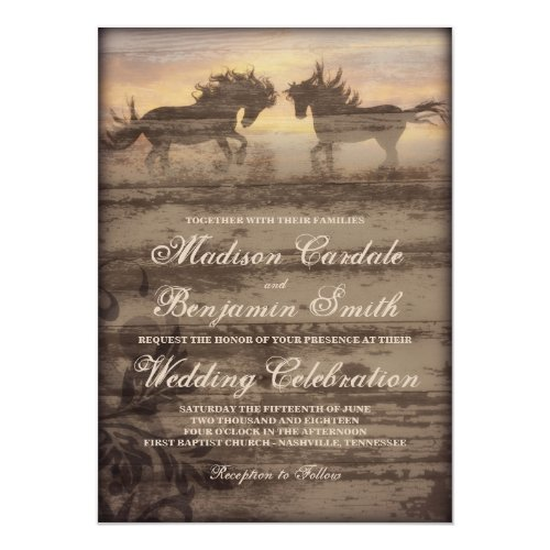 Best 50 Rustic Western Wedding Invitations Stunning Collection