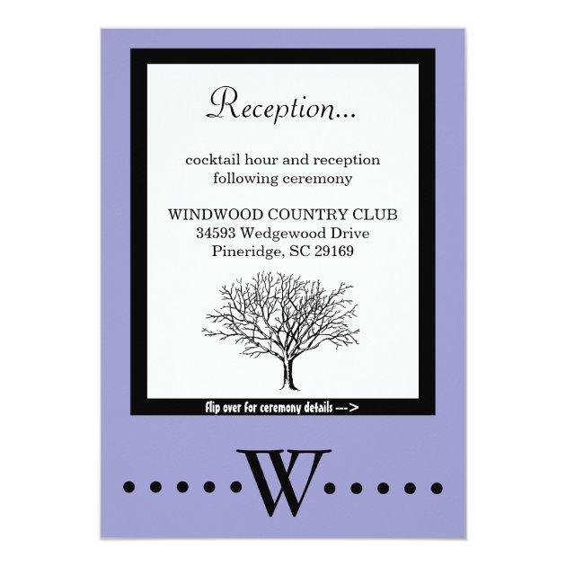 TWO IN ONE WEDDING CEREMONY & RECEPTION INVITATION