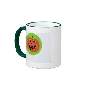 Two-ringer Happy Halloween Pumpkin Mug mug