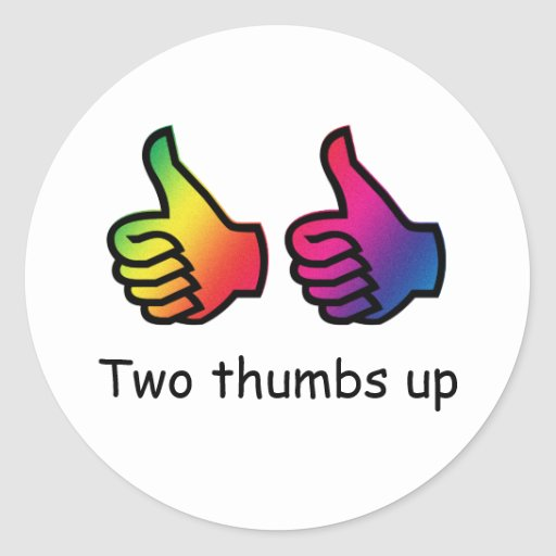 Two thumbs up sticker | Zazzle