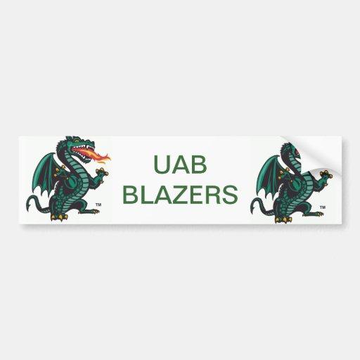 UAB Blazers Bumper Sticker   Zazzle