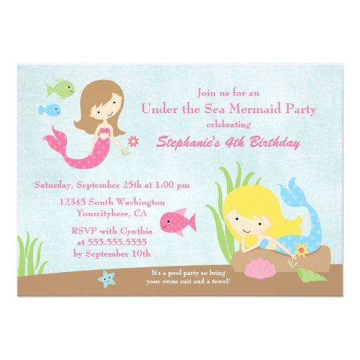 personalized under the sea invitations custominvitations4u com