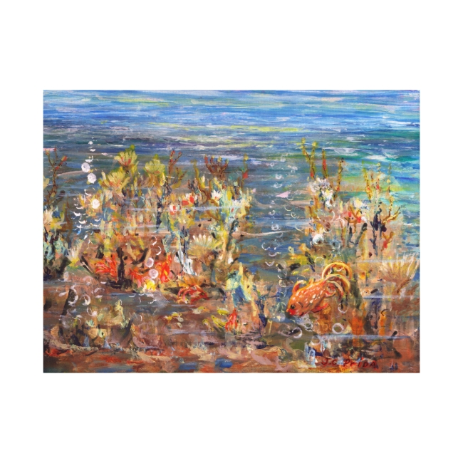 Underwater World Tropical Fish Aquarium Canvas Stretched Canvas Prints