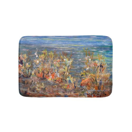 Underwater World Tropical Fish Aquarium Painting Bath Mats