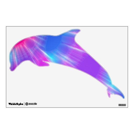 Unfocused Blue Pink And Purple Dolphin Wall Decals