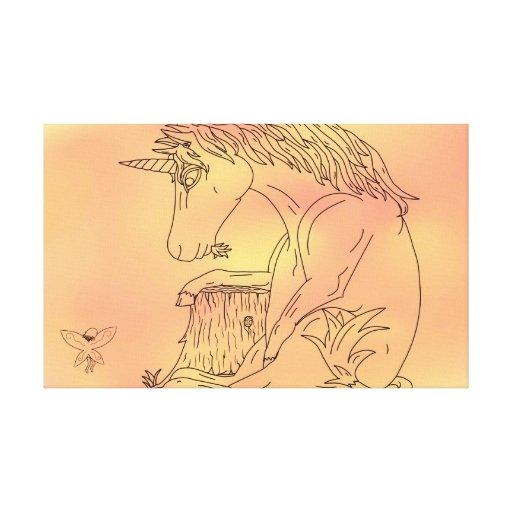 Unicorn and Color Canvas Stretched Canvas Print   Zazzle
