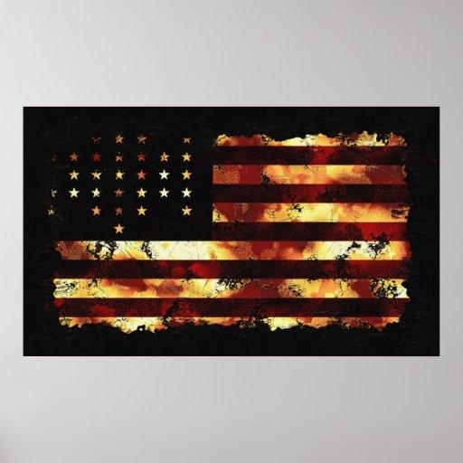 Union Flag, Civil War, Stars And Stripes, USA Poster