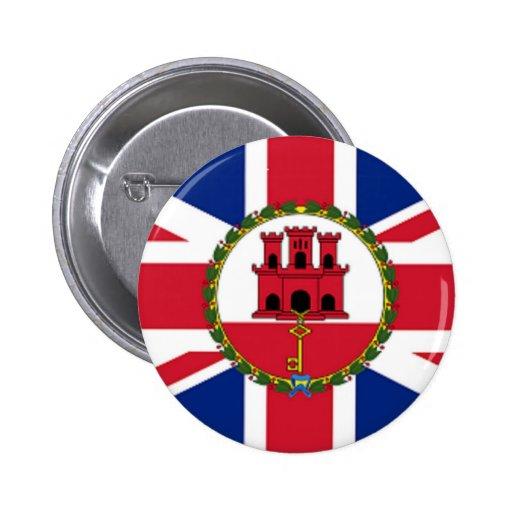 Union Jack Gibraltar Custom Button