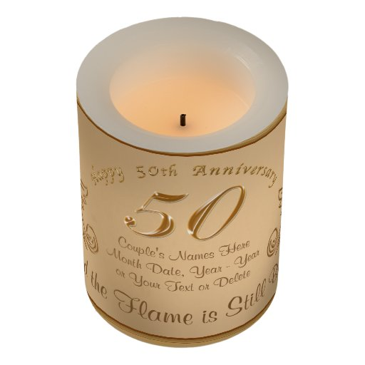 50th Anniversary For Husband Gifts: Unique 50th Anniversary Gift Ideas, LED Candles