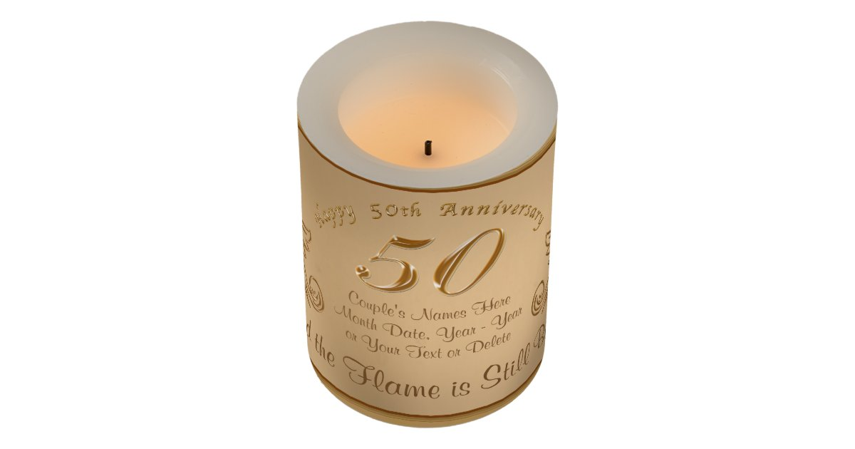 Unusual 50th Wedding Anniversary Gifts: Unique 50th Anniversary Gift Ideas, LED Candles