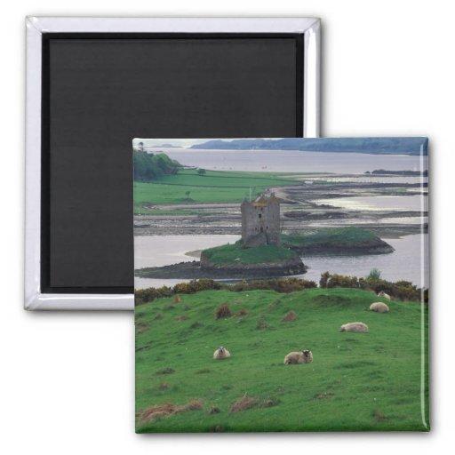United Kingdom, Scotland, Isle of Skye, old 2 Inch Square Magnet ...