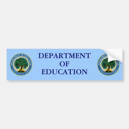 The Department Of Education: United States Department Of Education Bumper Sticker