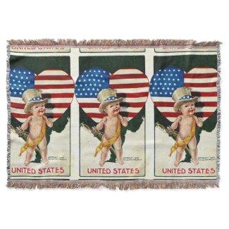 f78c845accea United States Flag Patriotic Throw Blanket