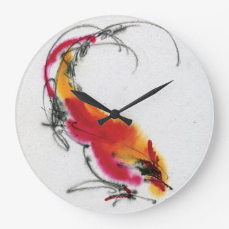 Unusual Rooster Calligraphy And Watercolor Clocks