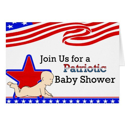 USA Patriotic Baby Shower Invitation Greeting Card