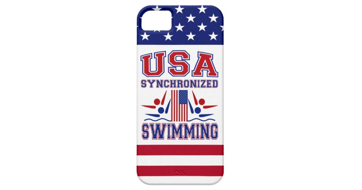 Usa Swimming Iphone Case