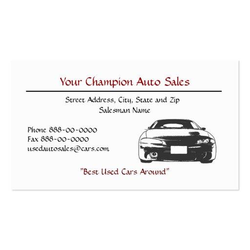 General Auto Dealer Business Cards   DesignsnPrint  Car Sales Business Cards