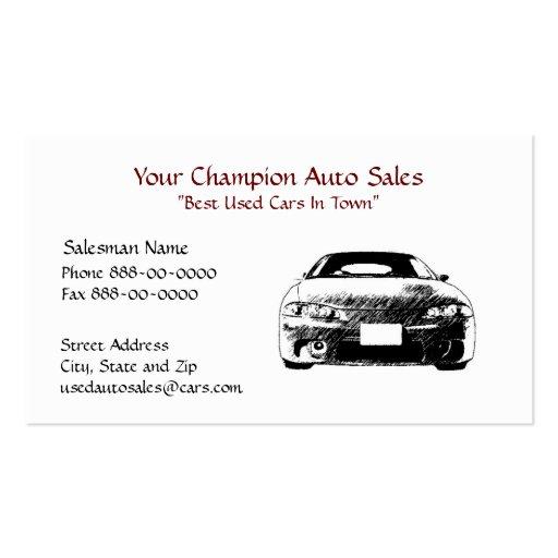 Used Car Dealer Business Card   Zazzle  Car Sales Business Cards