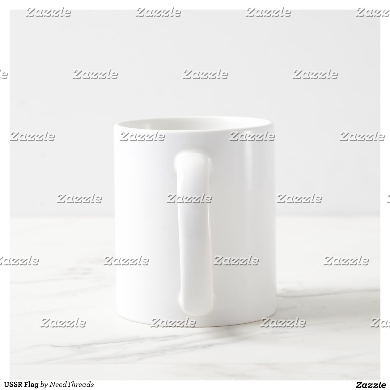 Ussr Flag Black And White USSR Flag Classic White Coffee