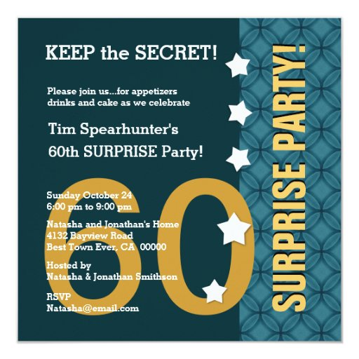 UTEMPLATE 60th SURPRISE Birthday Stars Funny A04