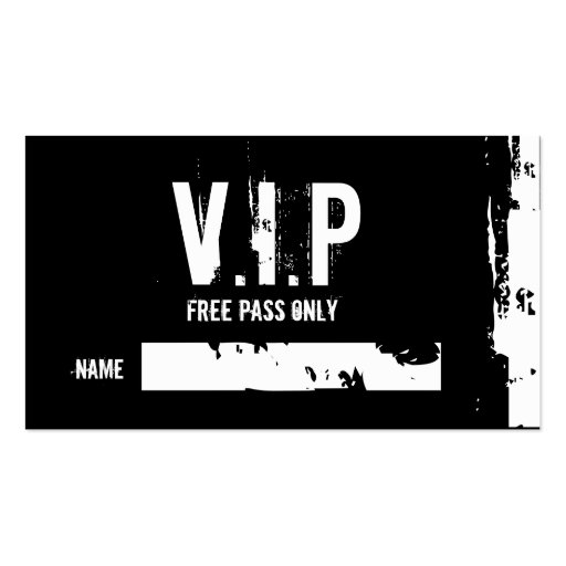 FREE PASS ONLY, NAME, _, _ BUSINESS CARD | Zazzle
