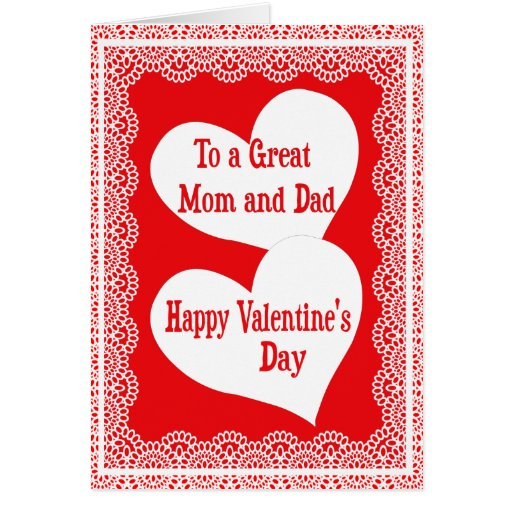 Valentine's Day Card For A Special Mom And Dad