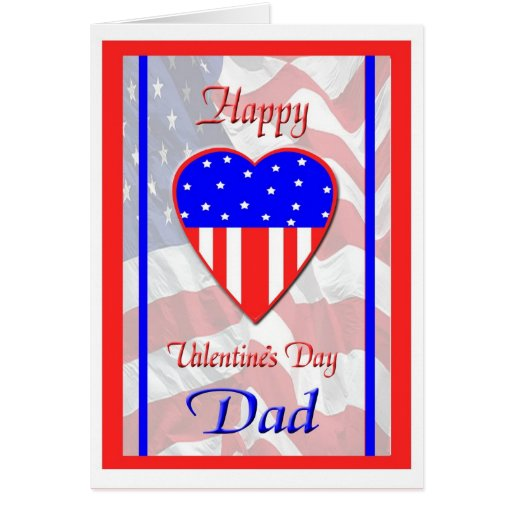 Valentine's Day For Military Dad Card