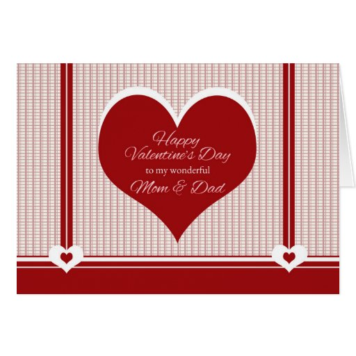 Valentine's Day For Mom And Dad Card