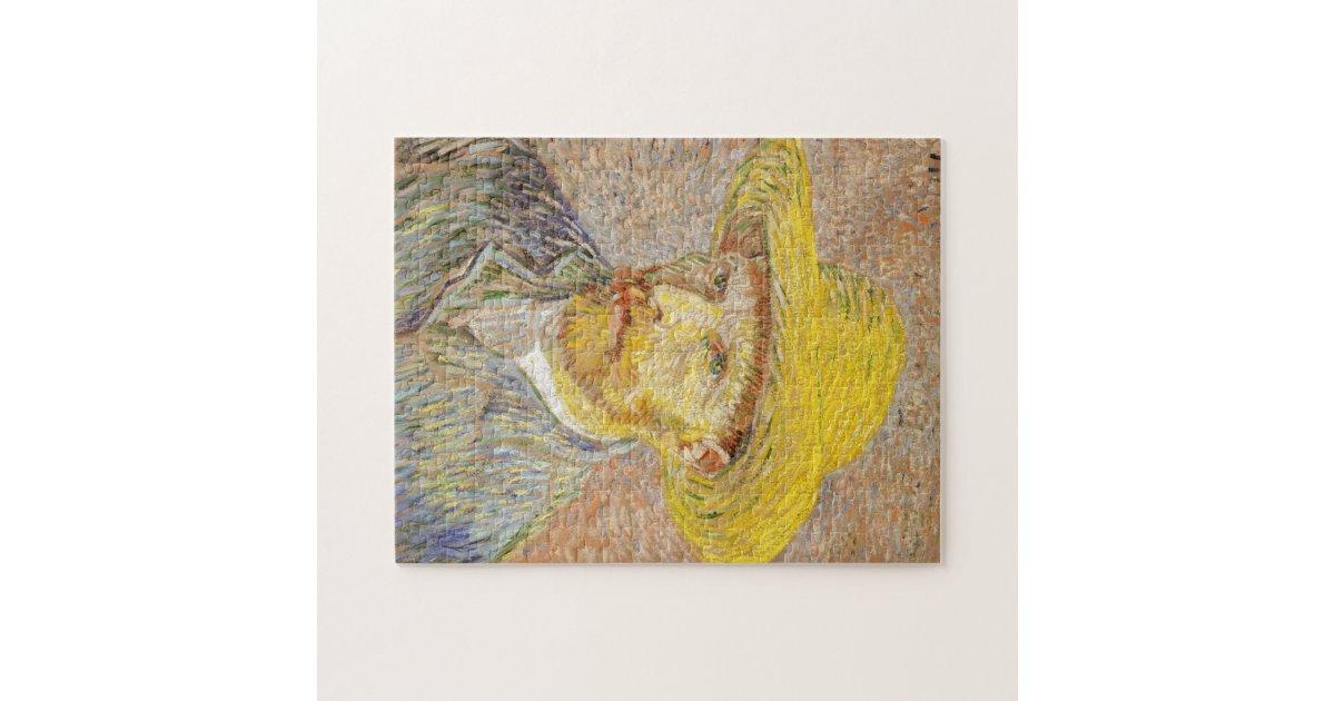 Van Gogh Self Portrait with Straw Hat Puzzle | Zazzle