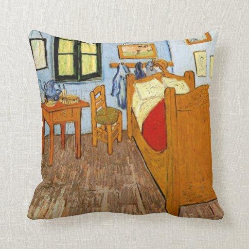 Van Gogh Bedroom In Arles: Van Gogh: Vincent's Bedroom In Arles, 1889 Throw Pillow