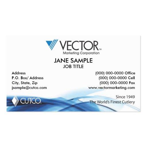 Cutco Vector Marketing Business Card
