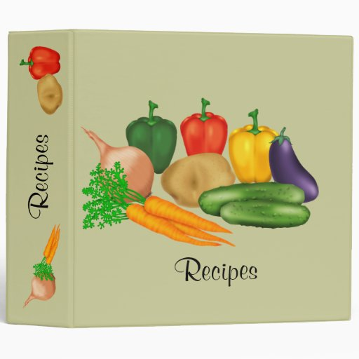 Vegetable Recipe 3 Ring Binders