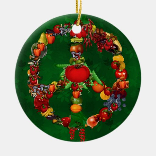Veggie Peace Sign Christmas Tree Ornaments | Zazzle