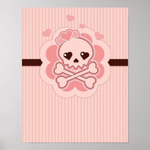Very Cute Love Skull Poster