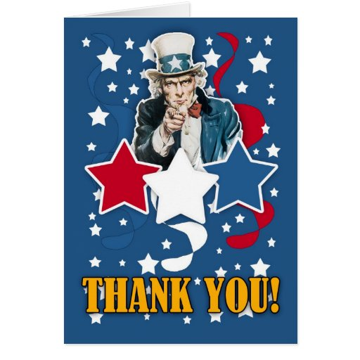 veteran's day - memorial day thank you card | Zazzle