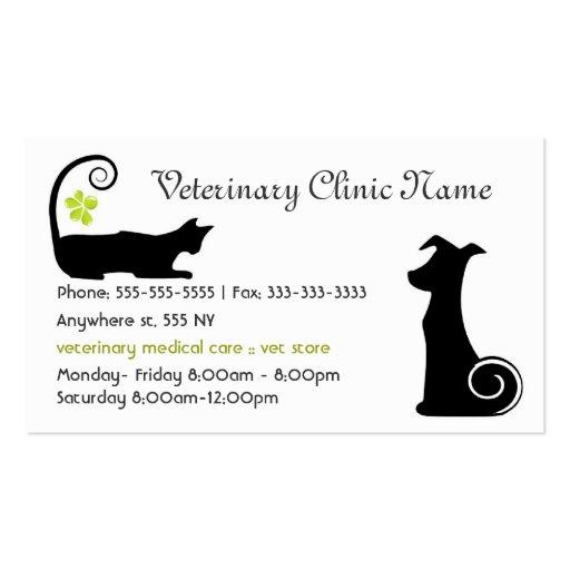 Pet Clinic Business Card Templates