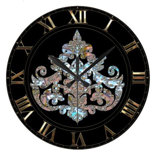 Veyla Shayde Elegant Goth Wall Clock | Zazzle