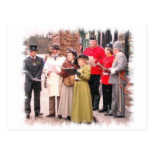 Christmas Carol Singers Decorations: VICTORIAN CHRISTMAS CAROL SINGERS POSTCARD