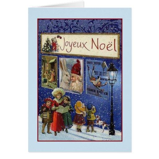 victorian french joyeux no l christmas card zazzle. Black Bedroom Furniture Sets. Home Design Ideas